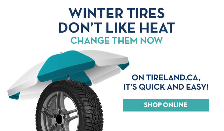 Winter tires don't like heat, shop online
